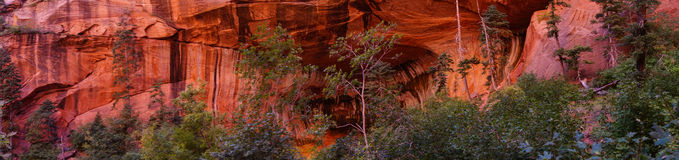 Deep red and orange cliffs Stock Images