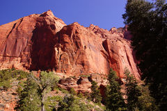 Deep red and orange cliffs Royalty Free Stock Photos