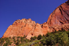 Deep red and orange cliffs Stock Photography