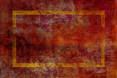 Deep red and purple, textured background with gold Stock Image