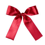 Deep red ribbon to put on your present Royalty Free Stock Photos