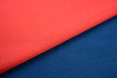 Deep salmon and midnight blue cotton cloth Stock Images