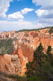 Deep sandstone canyons of Bryce Canyon national Park Royalty Free Stock Photography