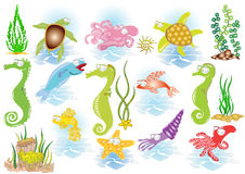 Deep sea. There are sea and ocean character Royalty Free Stock Photography