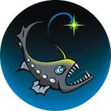 Deep-sea angler. Angler, element for design, vector illustration Stock Photo