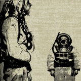 Deep Sea Diver Background