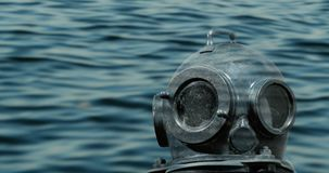Deep sea diver. Foreground underwater stock video footage