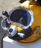 Deep sea diving helmet Royalty Free Stock Images