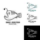Deep sea fish logo. Vector illustration isolated on white Stock Image