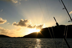 Deep Sea Fishing 1. Sunset at the end of deep sea fishing trip Stock Photos