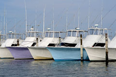 Deep sea fishing boats Stock Photos