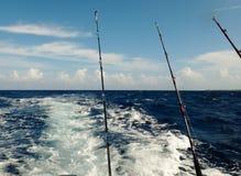 Deep sea fishing. In the Caribbean Royalty Free Stock Photo