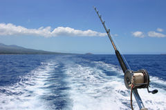 Deep sea fishing in Maui Hawaii Royalty Free Stock Photography