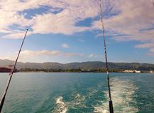 Deep sea Fishing. Off the coast of Jamaica Stock Photo