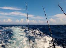 Deep sea Fishing. Off the coast of Jamaica Royalty Free Stock Photo