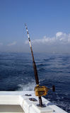 Deep sea fishing rod and reel Royalty Free Stock Photo