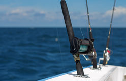 Deep sea fishing rods Stock Images