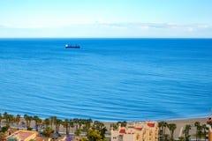 Deep sea fishing vessel. On mediteranian sea Stock Photo