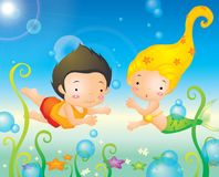 Deep Sea Mermaid Royalty Free Stock Images