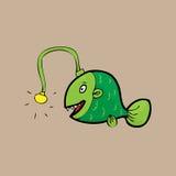 Deep sea monster Anglerfish Royalty Free Stock Photo