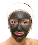 Deep sea mud mask treatment Royalty Free Stock Images