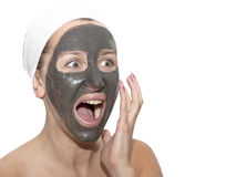 Deep sea mud mask treatment Stock Image