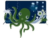 Deep sea Octopus Royalty Free Stock Images