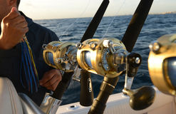 Deep sea saltwater fishing Royalty Free Stock Photos