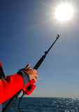 Deep sea saltwater fishing Stock Image