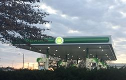 BP Gas Station. From the deep sea to the desert, from rigs to retail, BP delivers energy products and services to people around the world. We provide customers royalty free stock image