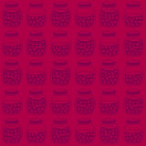 Deep seamless pattern with the cherry jam jars. Royalty Free Stock Photography