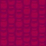 Deep seamless pattern with the cherry jam jars. Stock Image
