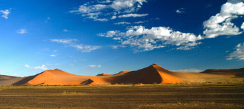 Deep shadows on Sossusvlei dunes at sunrise,Namib desert Namibia Stock Images