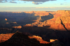 Deep shadows. A sunset over the Grand Canyon stock photo