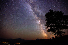 Deep sky astrophoto. The beauty of the world. Carpathians. Ukraine. Europe stock photography