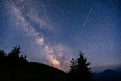 Deep sky astrophoto. Beauty world. Carpathians Ukraine Europe Stock Images