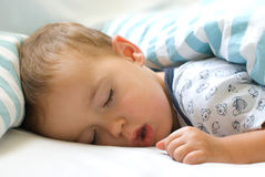 Deep sleep. Little boy sleeping Royalty Free Stock Image