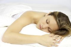 Deep sleep golden dreams Stock Image