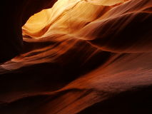 Deep slot canyon contours Royalty Free Stock Images