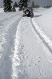 Deep snow 2. Four wheel drive leaves deep tracks in snow royalty free stock images