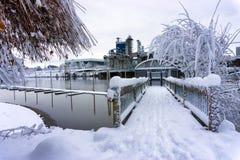 Deep Snow in Portland, Oregon Royalty Free Stock Photography