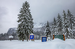 Deep Snow, Sixt Fer A Cheval, France Stock Image