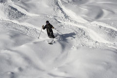 Deep snow skiing Royalty Free Stock Images