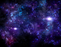 Deep space, abstract background Royalty Free Stock Photos