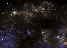 Deep space, abstract  background Royalty Free Stock Photography