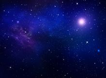 Star field in galaxy space with nebula. Deep space. Night sky, abstract blue galaxy background. Star field in galaxy space with nebula royalty free stock photography