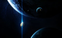 Deep space art. Awesome for wallpaper and print. Elements of this image furnished by NASA Royalty Free Stock Photography