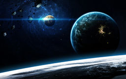Deep space art. Awesome for wallpaper and print. Elements of this image furnished by NASA Royalty Free Stock Photo