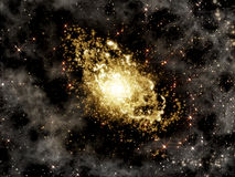 Deep space background with galaxy Royalty Free Stock Photography