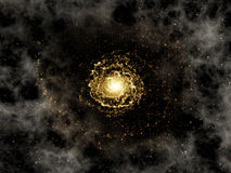 Deep space background with galaxy Stock Images